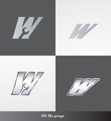 eps Vector image: initials (W) Fits the garage logo