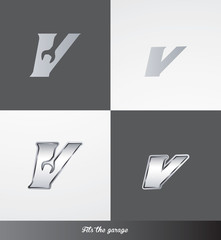 eps Vector image: initials (V) Fits the garage logo
