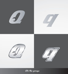 eps Vector image: initials (Q) Fits the garage logo