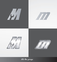eps Vector image: initials (M) Fits the garage logo