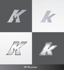 eps Vector image: initials (K) Fits the garage logo