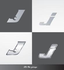 eps Vector image: initials (J) Fits the garage logo