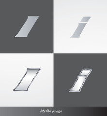 eps Vector image: initials (I) Fits the garage logo