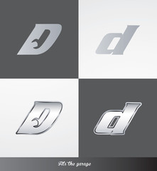 eps Vector image: initials (D) Fits the garage logo