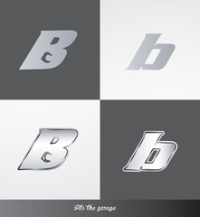 eps Vector image: initials (B) Fits the garage logo