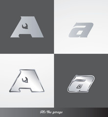 eps Vector image: initials (A) Fits the garage logo