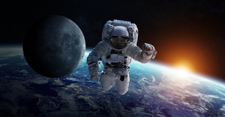 Wall Murals Nasa Astronaut floating in space 3D rendering elements of this image furnished by NASA