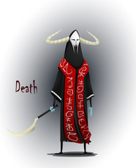 The concept of the Angel of death.
