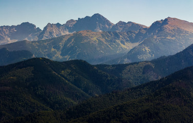 High Tatra Mountain in summer