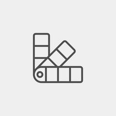 Pantone flat vector icon. Palette flat vector icon