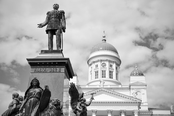 Photo sur Aluminium Artistique Alexander II Monument in Helsinki,