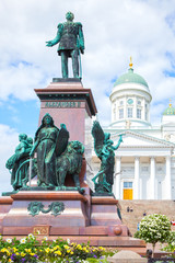 Wall Murals Artistic monument Alexander II Monument in Helsinki