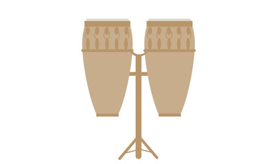 Pair of drums icon. Musical instrument