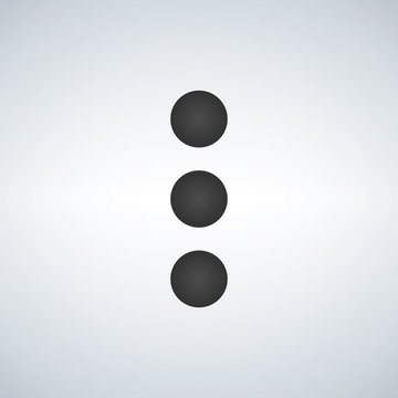 more options dot button, web menu icon. concept web buttons. vector illustration. Flat design style.