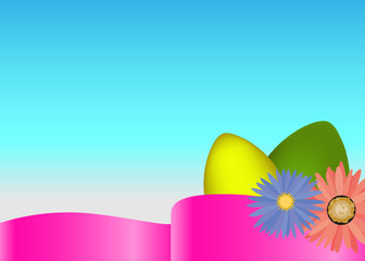 Easter time poster design with eggs.