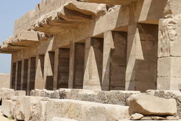 Karnak temple construction