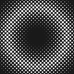 Monochrome abstract halftone polka dot background pattern template