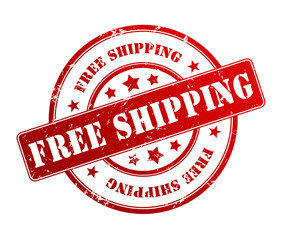 free shipping rubber stamp illustration