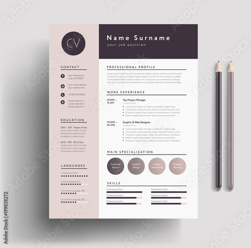 u0026quot beautiful cv    resume template - elegant stylish design