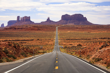 Famous road into Monument Valley, Utah, USA.
