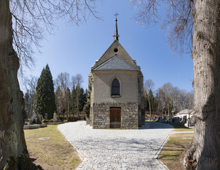 Church of the Sacred Heart of the Lord in Vimperk city, south Bohemia. Czech Republic