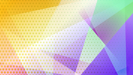 Abstract colored background of lines, polygons and halftone dots