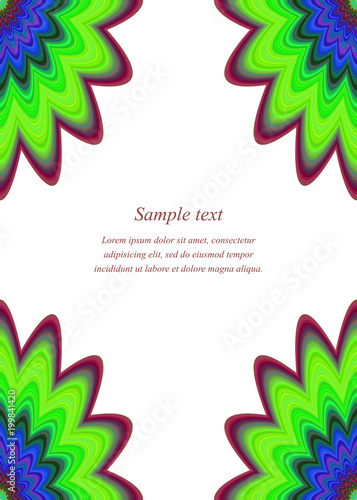 Multicolor floral ornament page corner design template