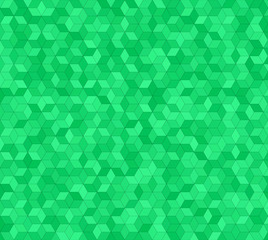 Green abstract 3d cube mosaic pattern background design
