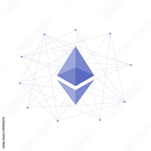 Ethereum Crypto Currency Coin Icon Logo For Apps And Websites Blockchain Platform Sticker