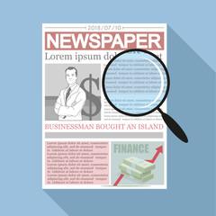 Newspaper. Concept newspaper template.