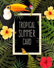 Tropical summer card