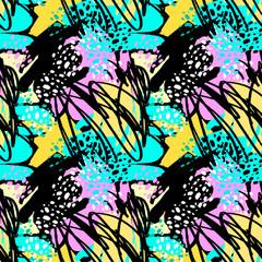 Paint strokes seamless textile pattern