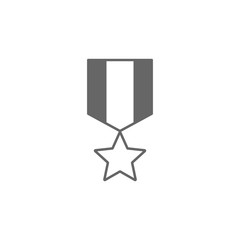 Medal Icon. Simple element illustration. Medal symbol design template. Can be used for web and mobile