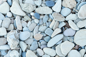 large grey pebble occupies the entire space of the frame, blue tone