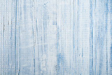 Texture of blue wood background closeup. Top view