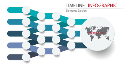 Vector abstract element timeline infographics. Design for business or finance template layout, brochure, workflow, information or presentation and other. Can add infodata and icon. Abstract 3D vector.