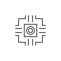 nano chip icon. Element of nano technology icon. Premium quality graphic design icon. Signs and symbols collection icon for websites, web design, mobile app