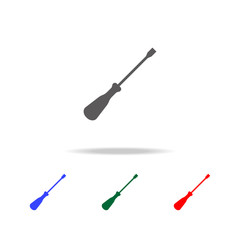 Screwdriver icon. Elements of construction tools multi colored icons. Premium quality graphic design icon. Simple icon for websites, web design, mobile app, info graphics