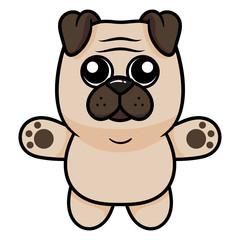 Cartoon Pug Character