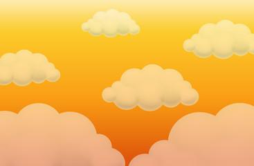 Background design with orange sky