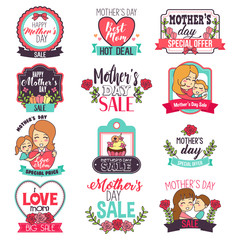 Mother Day Sale Sign Clipart Illustration