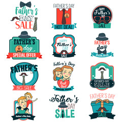 Father Day Sale Sign Clipart Illustration