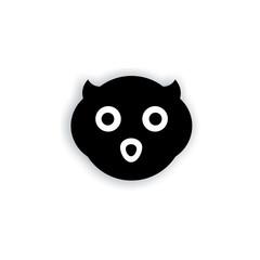 face of owl logo vector