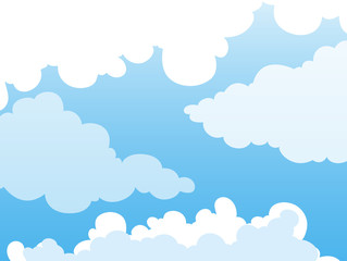 Background design with clouds in blue sky