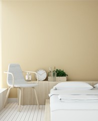 Bedroom Interior Japanese minimal style -3D rendering  portrait decoration