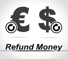refund money icons on white background