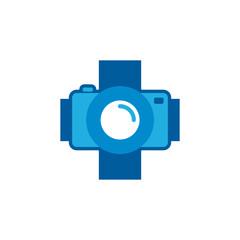 Camera Medical Logo Icon Design