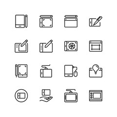 Graphic tablet flat icon