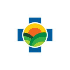Farm Medical Logo Icon Design
