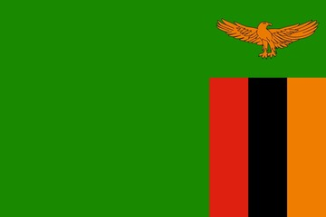 Flag of Zambia official colors and proportions, vector image.